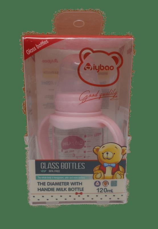 Aiybao Standard Caliber Handle Glass Bottle 120ML