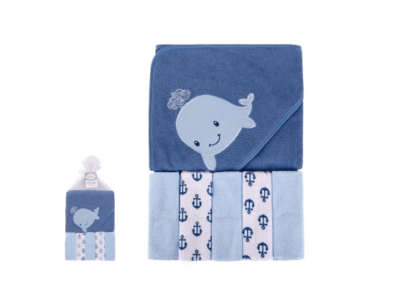 Hudson Baby Bath Towel & Wash Cloth