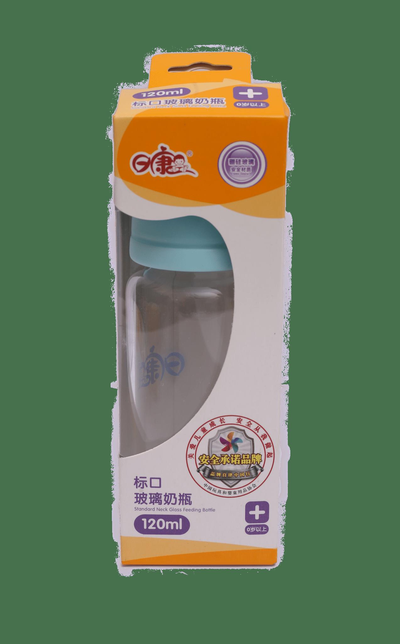 Standard Neck Glass Feeding Bottle 4oz / 120ml ( Ferozy )