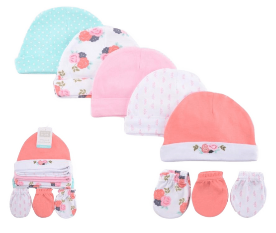 Hudson Baby Caps & Mittens ( Pack of 8 )