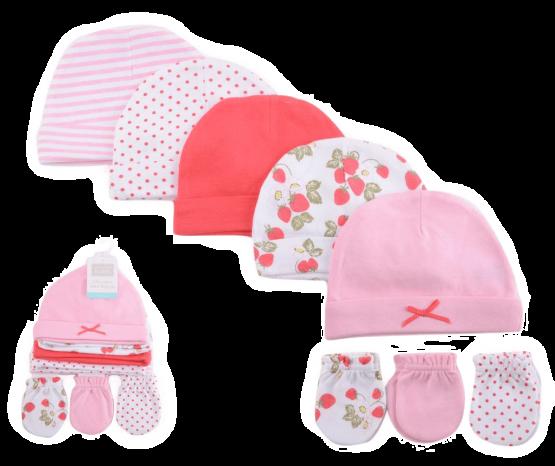 Hudson Caps & Mittens Set ( Pack of 8 )
