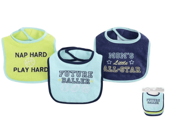 Luvable Friends Bibs ( Pack of 3 )