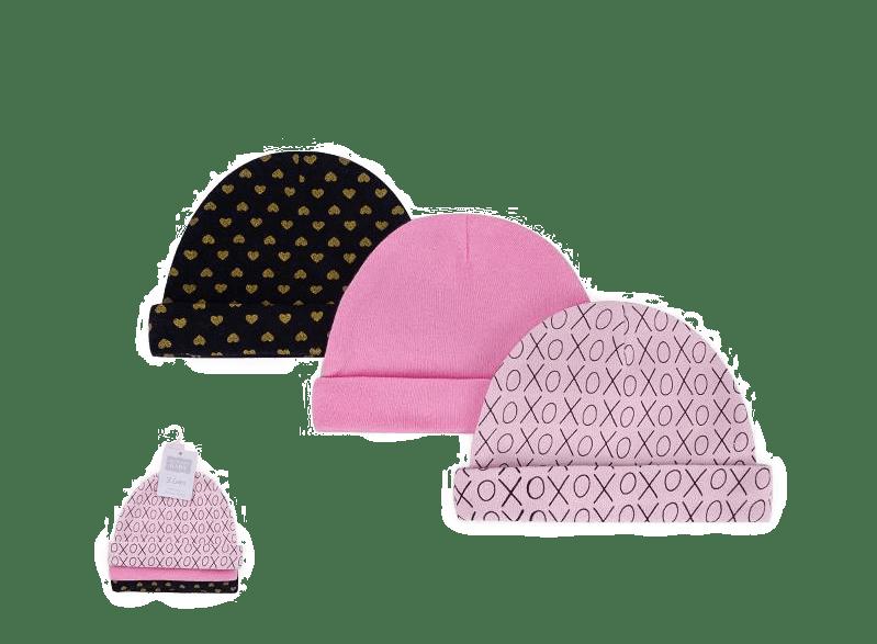 Hudson Baby Caps ( Pack of 3 )