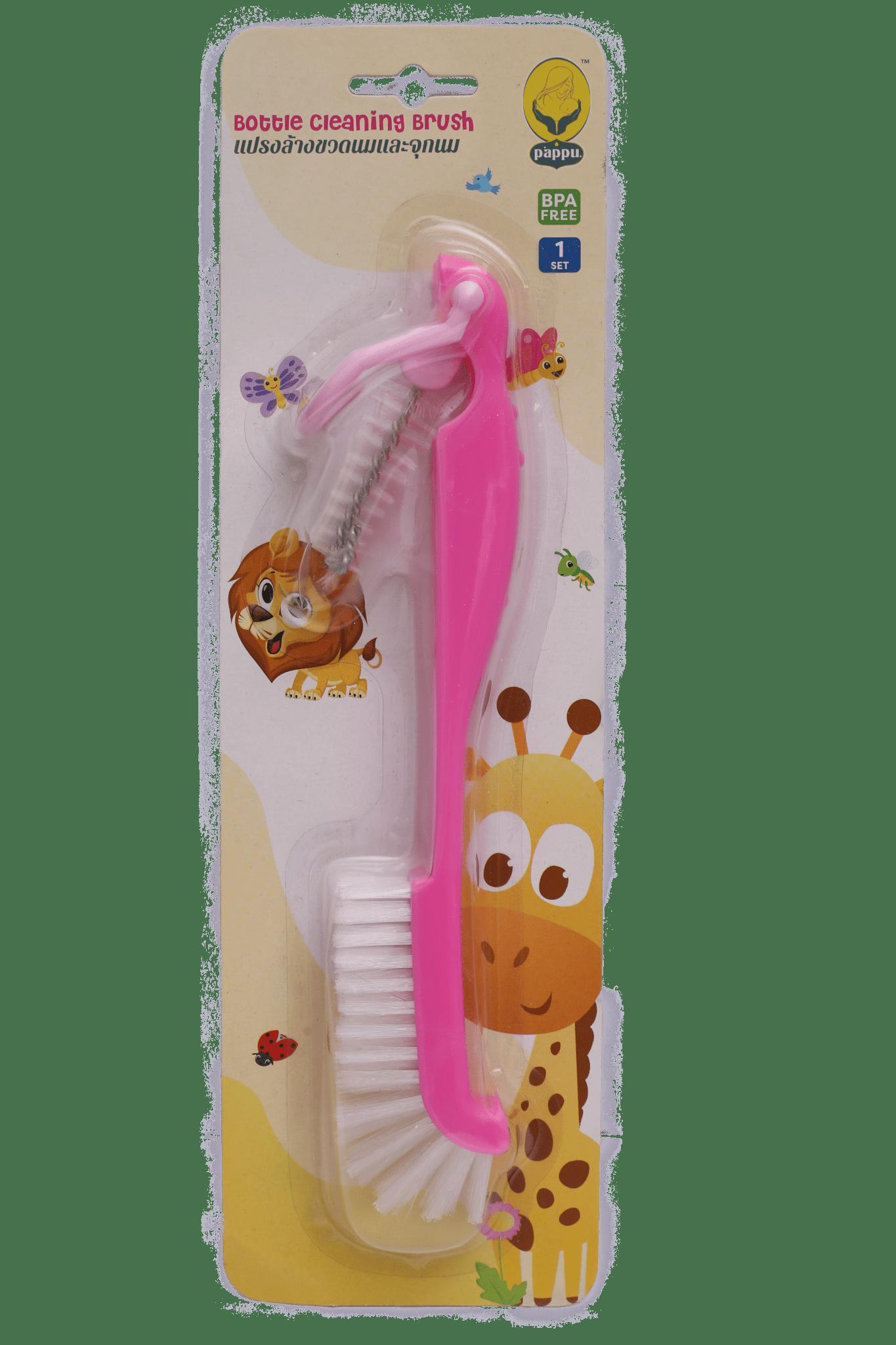 Pappu Nipple & Bottle Brush ( Pink )