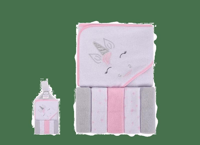 Hudson Baby Bath Towel & Wash Cloth