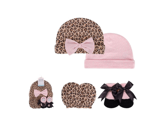 Hudson Caps , Botties & Mittens ( Pack of 4 )