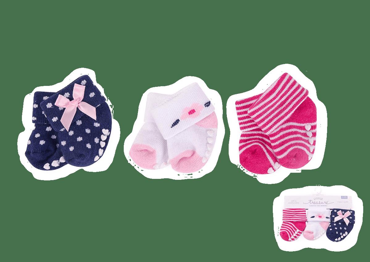 Little Treasure Socks ( Pack of 3)