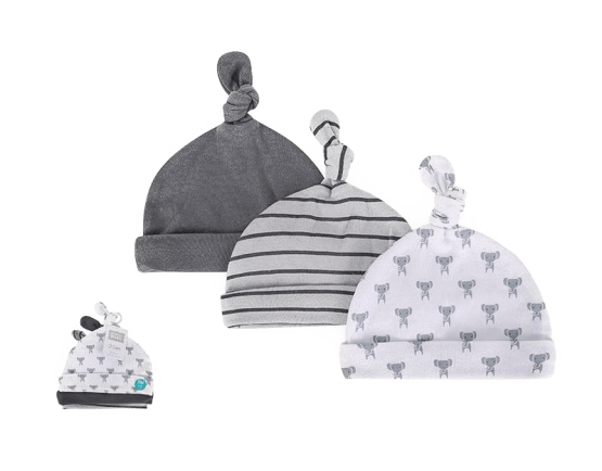 Hudson Baby Caps ( Pack of 3 )