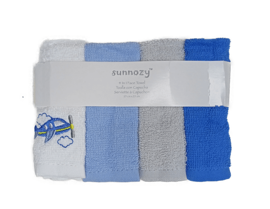 Sunnozy Face Towel ( Pack of 4 )