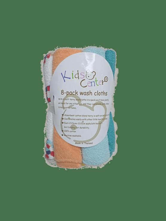 Kids Center Baby Washcloths ( Pack of 8 )