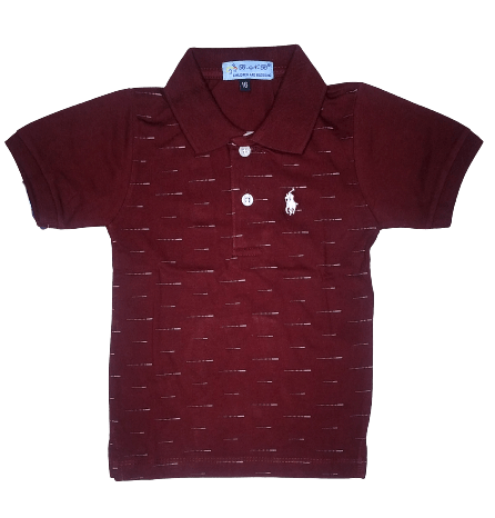 T-Shirt Polo (Mehroon)