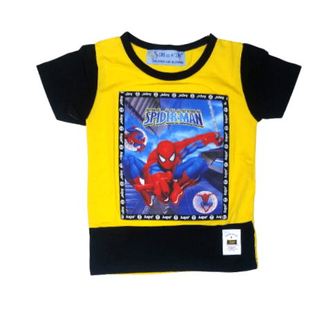 T-Shirt Spiderman (Yellow)
