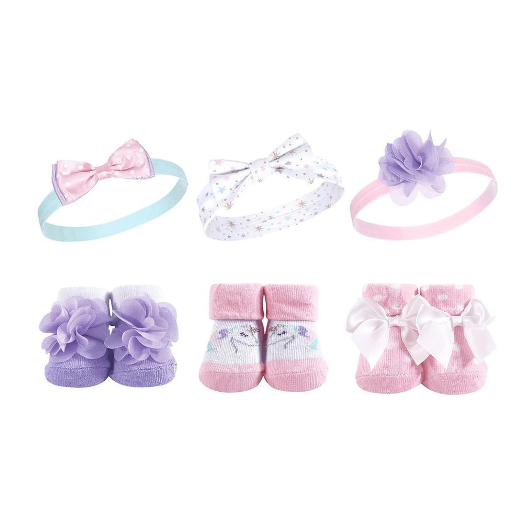 Hudson Booties Socks & Headbands ( Pack of 6 )
