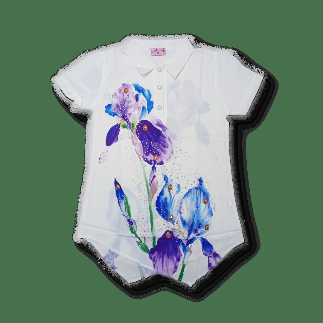Dlumani Blouse Flower (White)