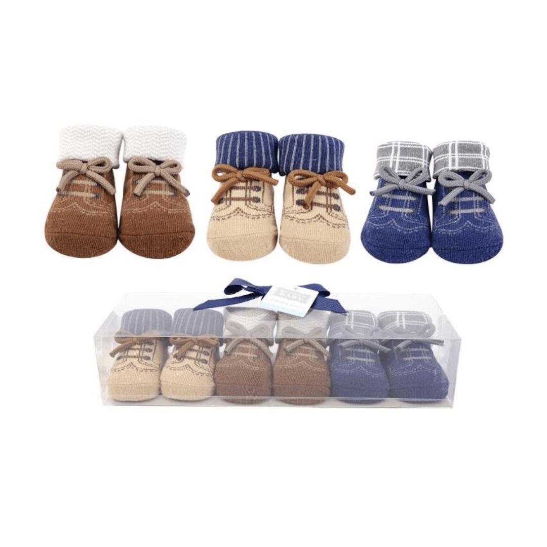 Hudson Baby Booties Socks ( Pack of 3 )