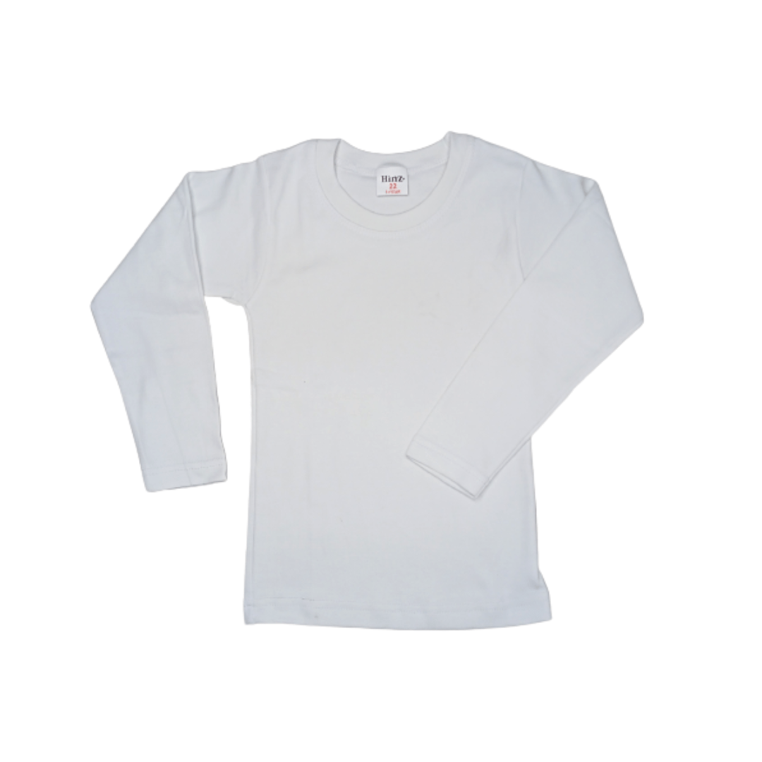 Hinz Youth Essential R\Neck Full Sleeves (White)