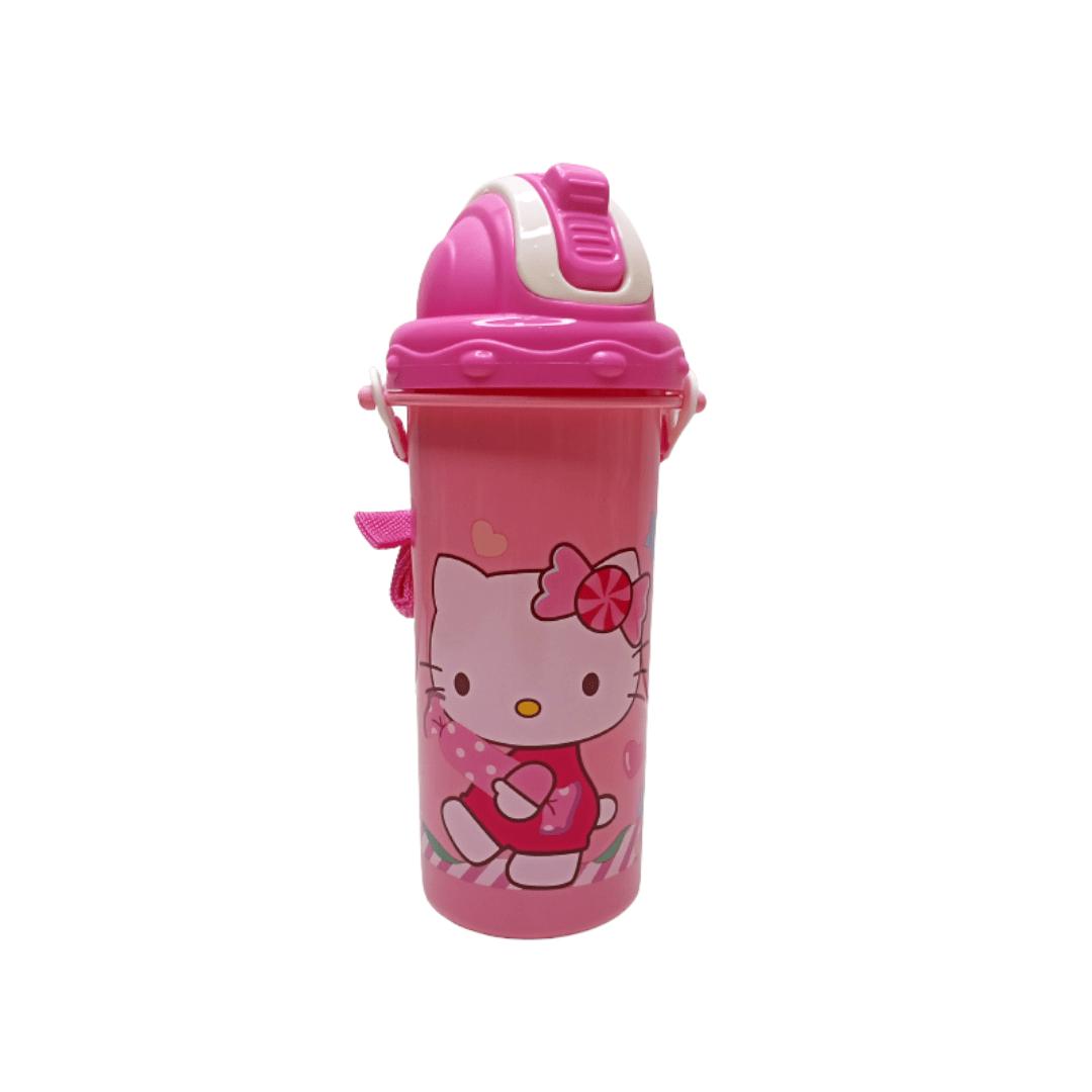 Kids Straw Water Bottle Kitty