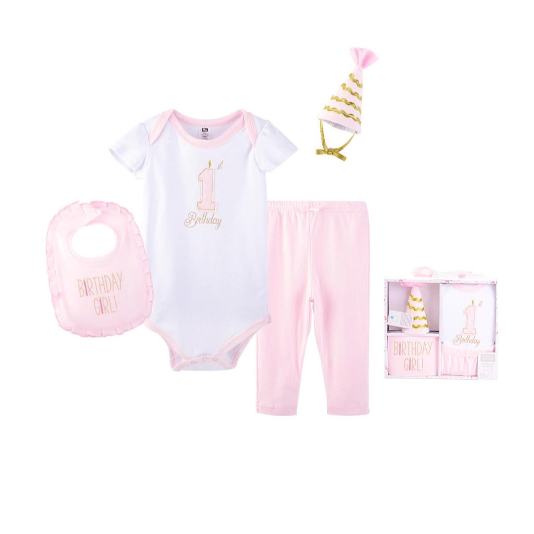 Hudson Baby 1st Gift Set (4 Piece)
