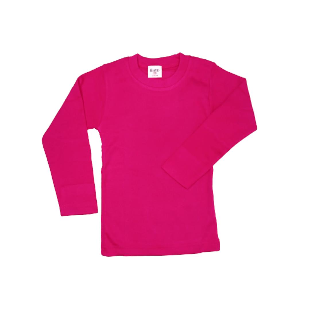 Hinz Youth Essential R\Neck Full Sleeves (Fuschia)