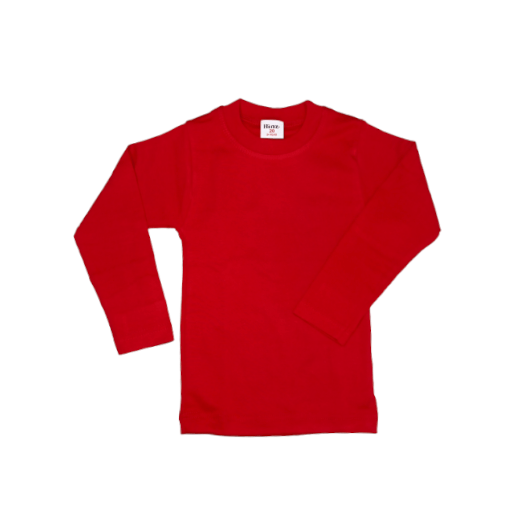 Hinz Youth Essential R\Neck Full Sleeves (Red)