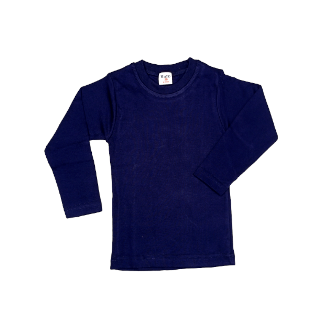 Hinz Youth Essential R\Neck Full Sleeves (Navy)