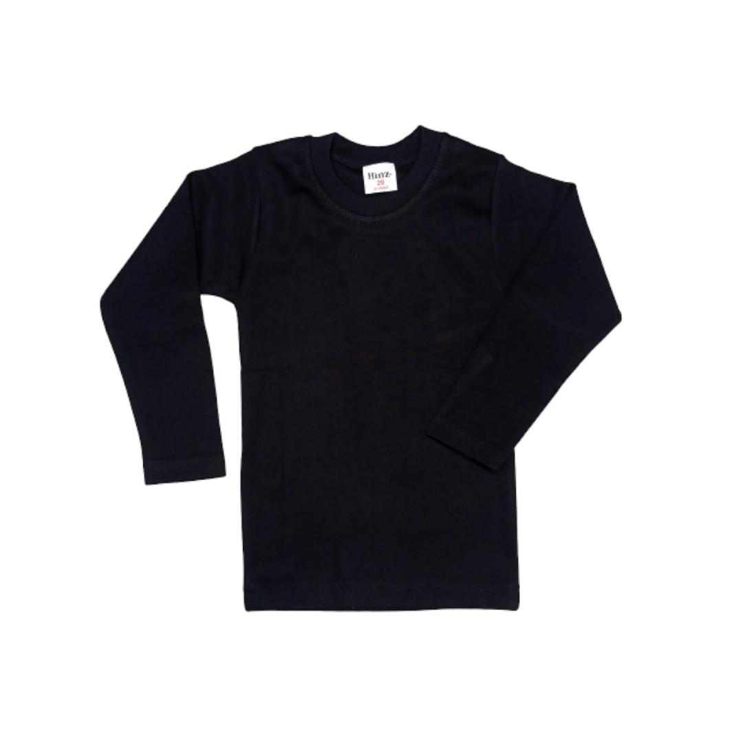 Hinz Youth Essential R\Neck Full Sleeves (Black)