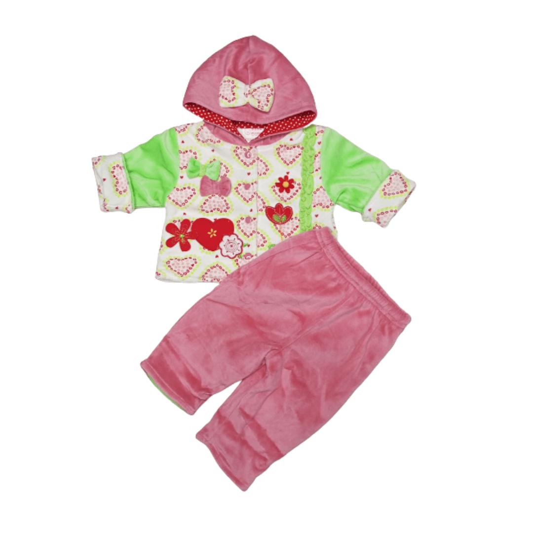 Girl Winter Suit Flower