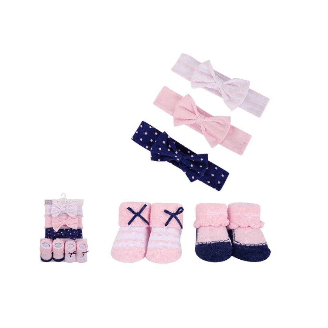 Hudson Baby Headband & Booties Set 5-Pk
