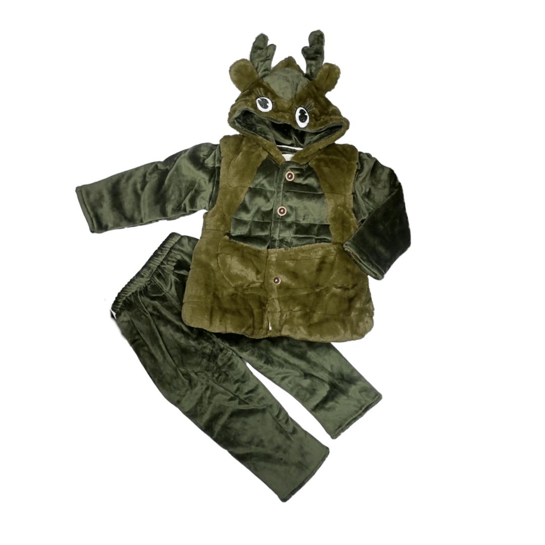 Fluffy Pajama Suit Swamp deer