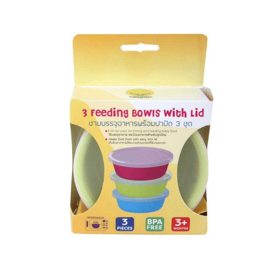 Feeding Bowls With Lid Pk-3 Thailand
