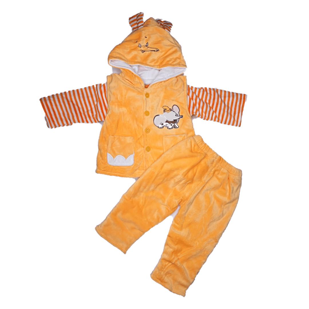 Fluffy Pajama Suit Elephant