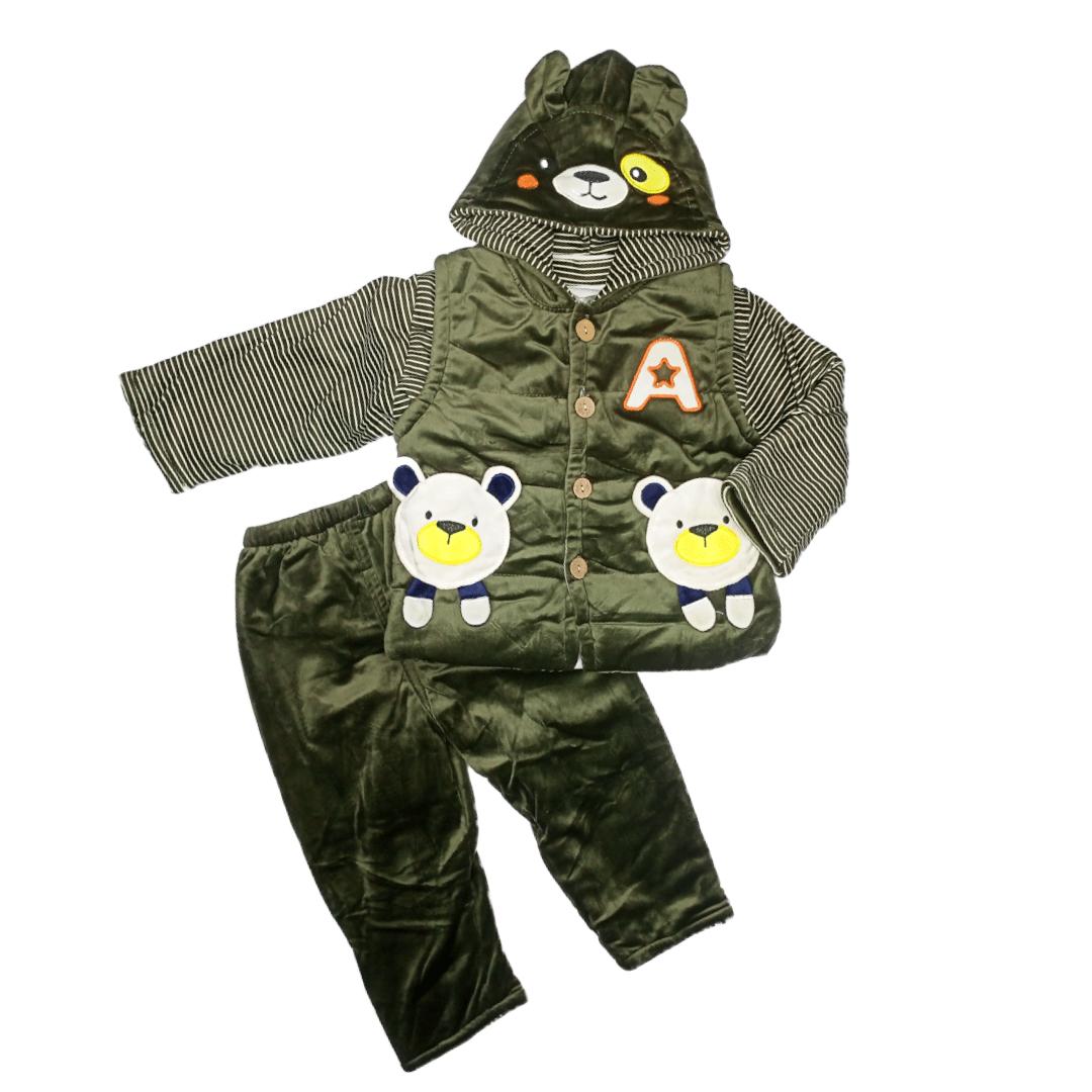 Fluffy Pajama Suit Bear